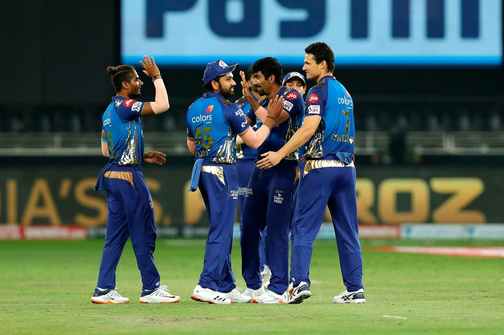 Man of the Match Jasprit Bumrah took 4 wickets against DC in Dubai. (Photo - BCCI / IPL)