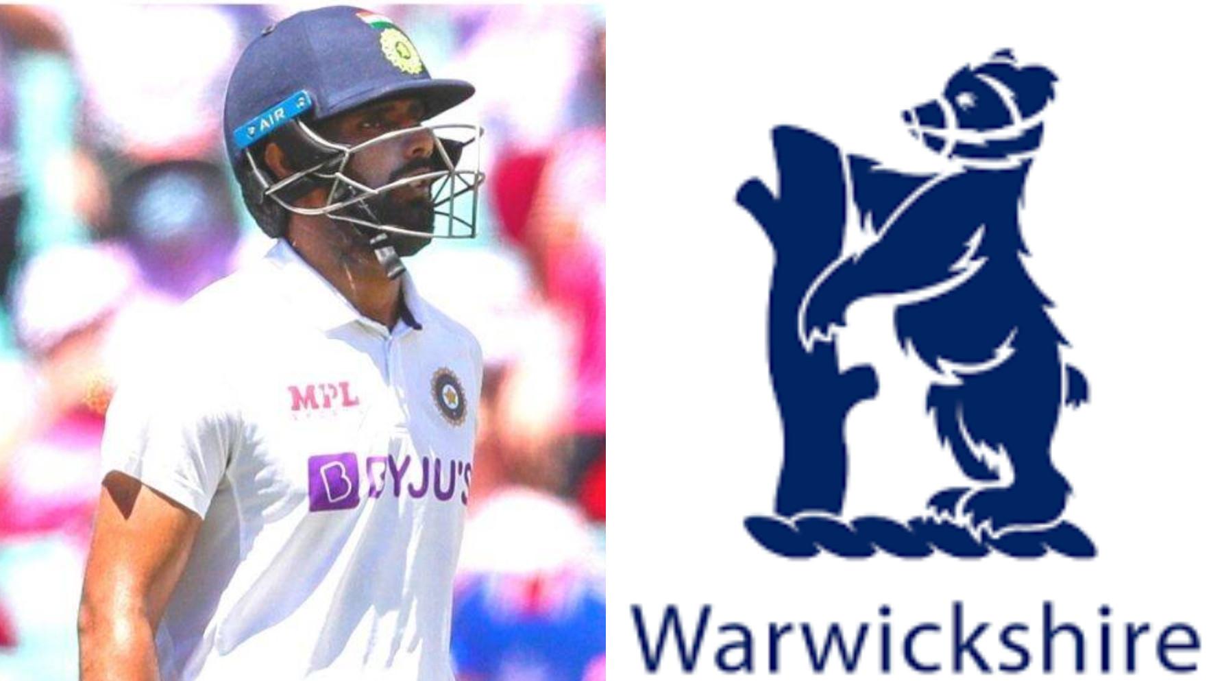 Hanuma Vihari joins Warwickshire for County Championship