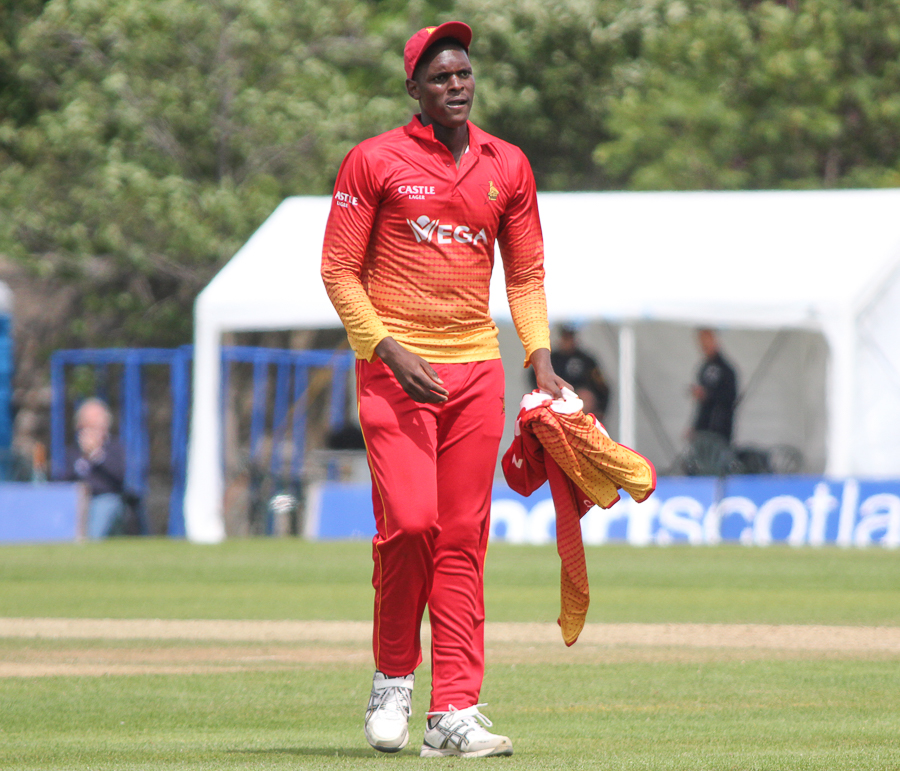 Richard Ngarava picked up a groin injury in the ODI series | Getty Images