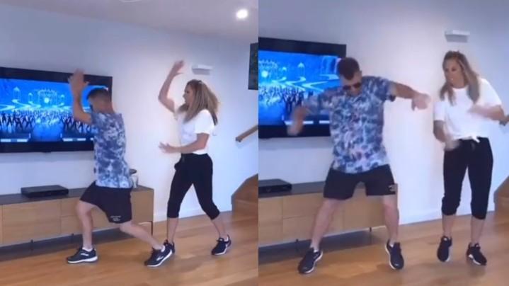WATCH: David Warner and Candice Warner shake a leg to Mahesh Babu's hit song