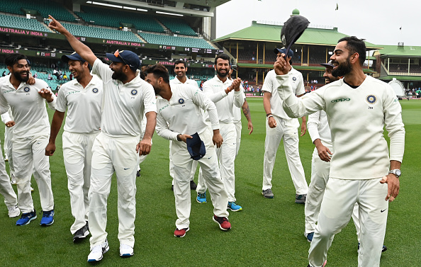 India celebrates Test win in Sydney | Getty Images