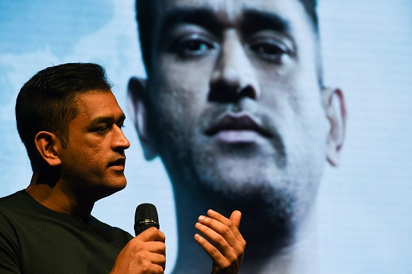 MS Dhoni speaks at an event in Mumbai | Getty Images
