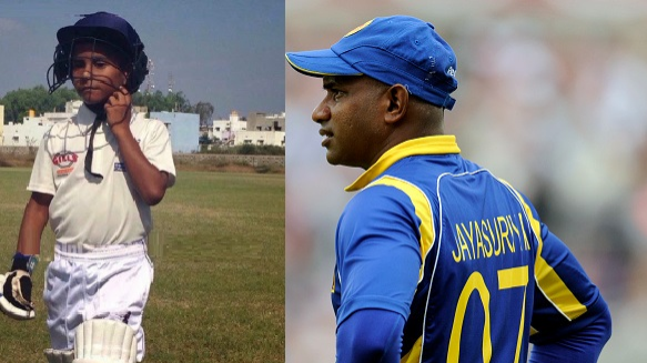 WATCH: Sanath Jayasuriya passes his aggressive batting traits to son Ranuka Jayasuriya
