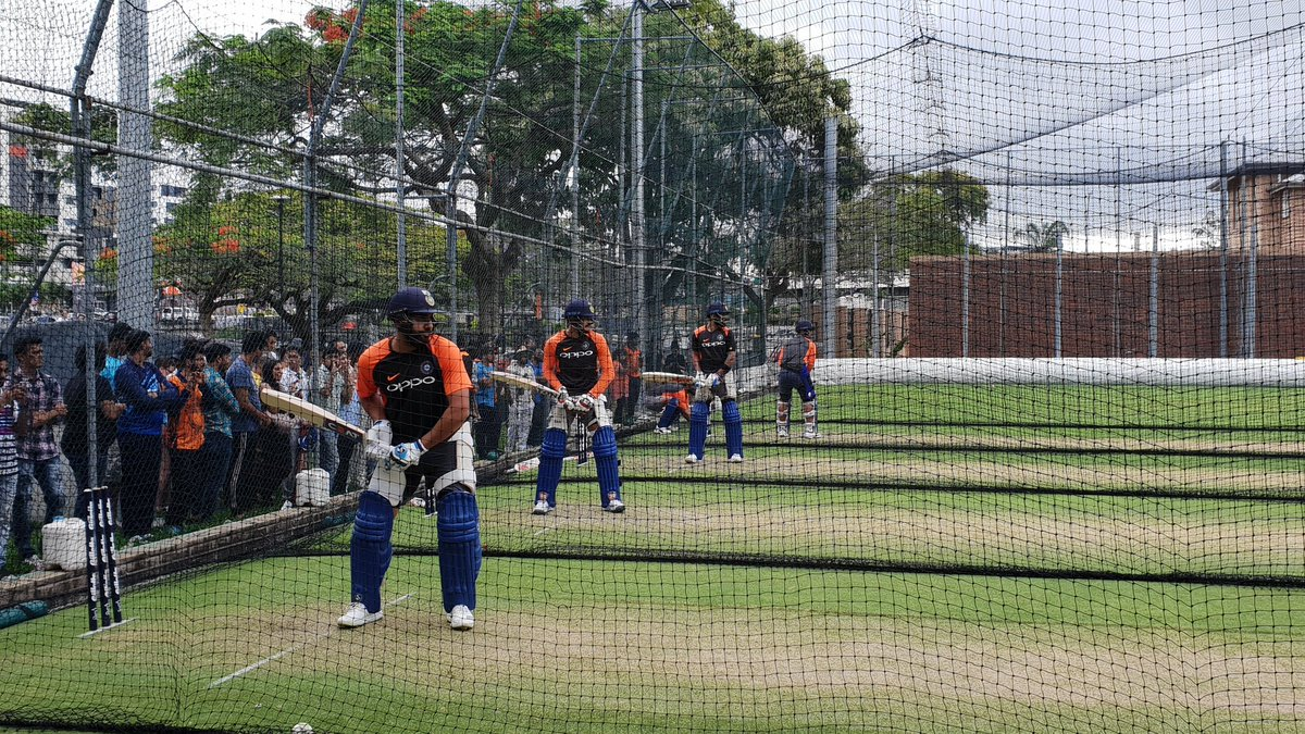 Team India in net practice | HT Photo