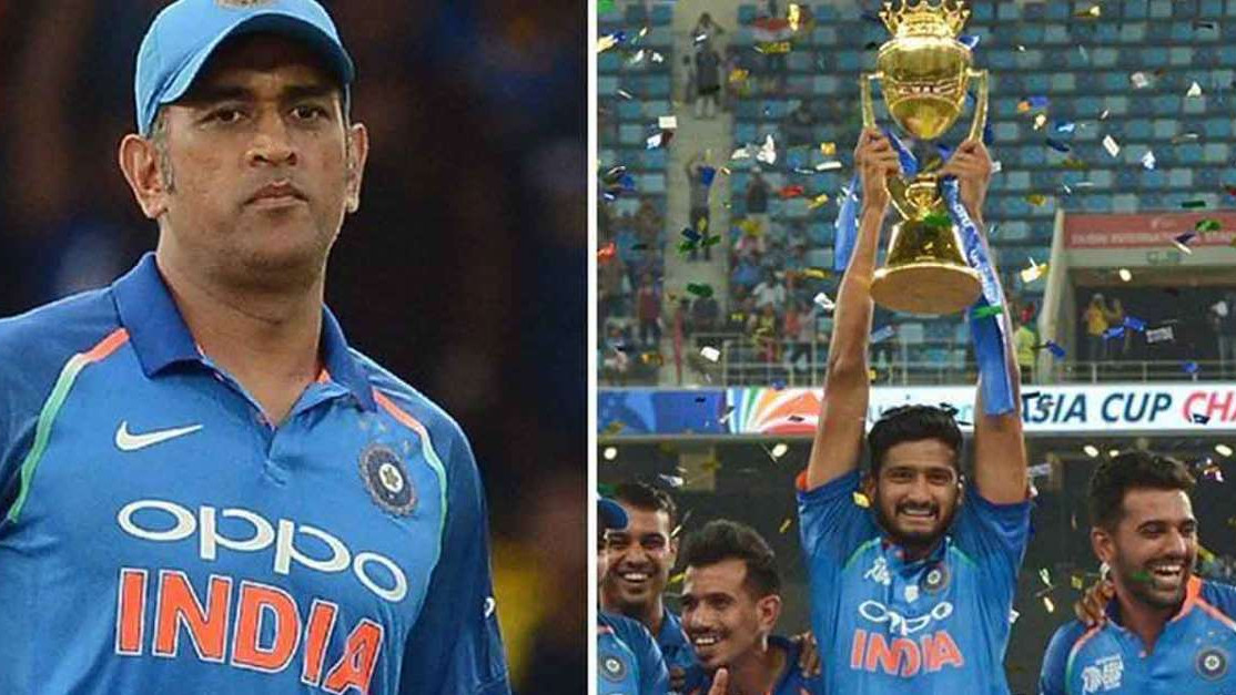 Twitterati hail MS Dhoni for asking Rohit Sharma to hand over the Asia Cup trophy to Khaleel Ahmed