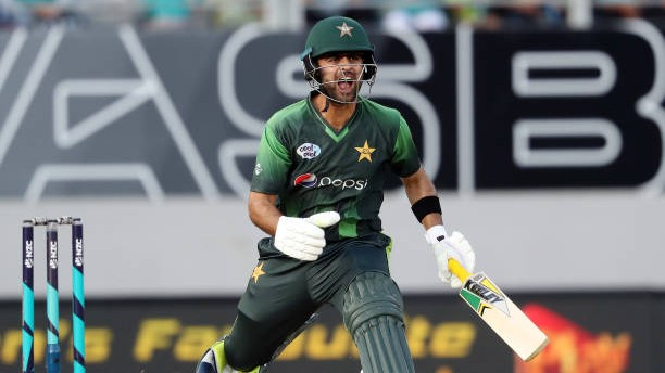 Ahmad Shahzad reacts after being found guilty of ball tampering