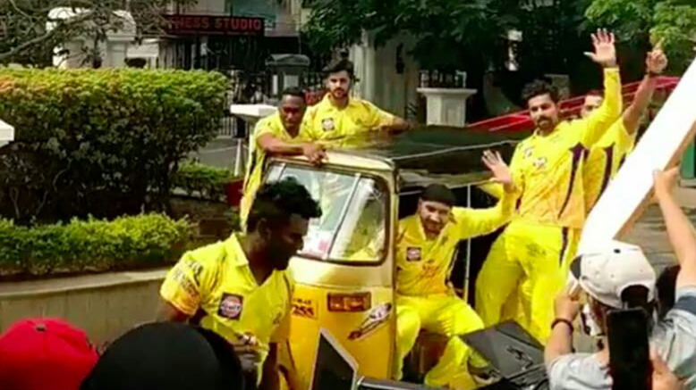 Murali Vijay shares video clip from ad shoot with his Chennai Super Kings mates