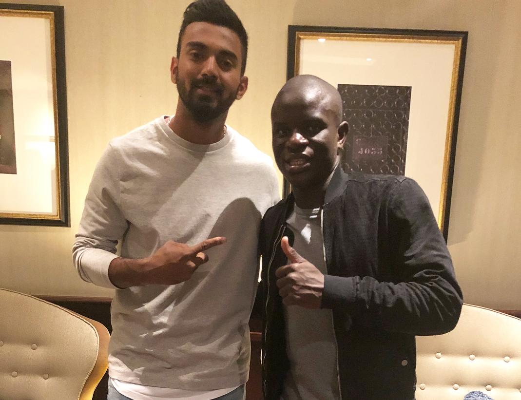 KL Rahul with Chelsea star N'Golo Kante | Instagram