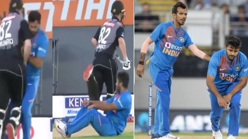 NZ v IND 2020: WATCH - Shardul Thakur not happy after colliding with Munro; fans reacted