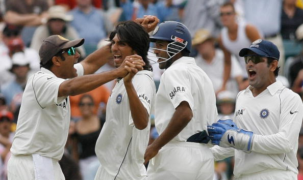 Captain Anil Kumble and Ishant Sharma celebrate dismissal of Ricky Ponting | GETTY