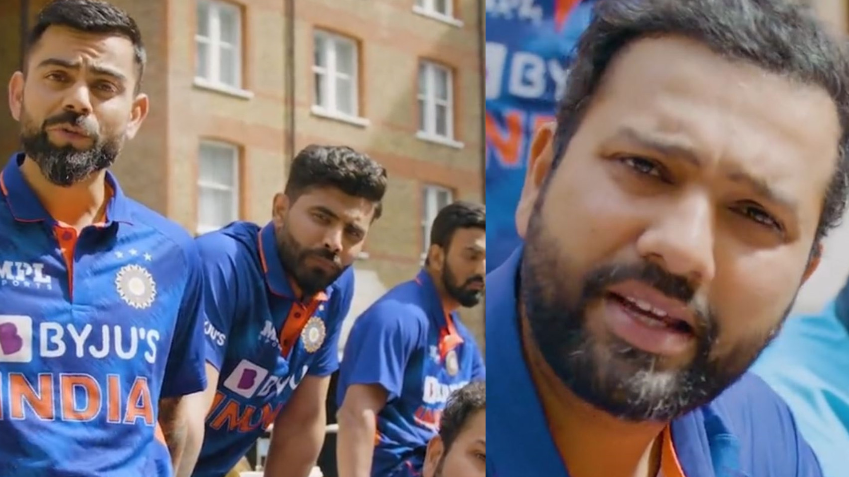 WATCH- Virat Kohli, Rohit Sharma and other India players talk about the new Indian team jersey