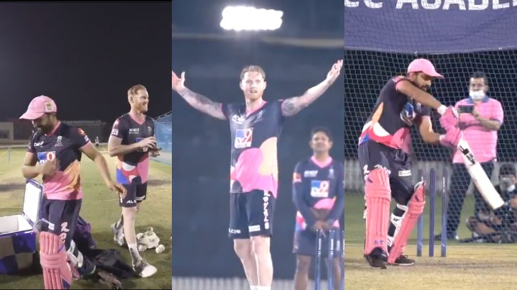 IPL 2020: WATCH - 'Off-spinner' Ben Stokes versus RR fielding coach Dishant Yagnik in a 'six challenge'