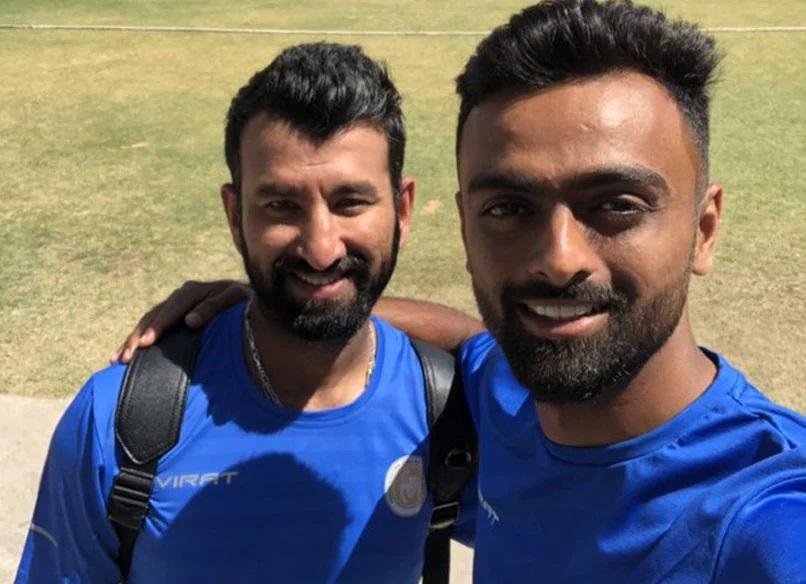 Cheteshwar Pujara and Jaydev Unadkat   Twitter