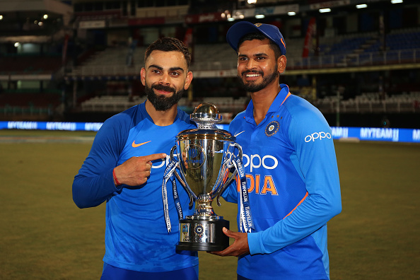 Indian skipper Virat Kohl is one of Iyer's role models   Getty