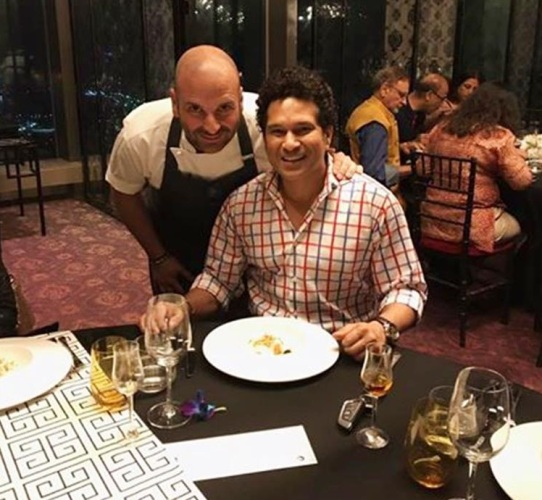 Sachin Tendulkar with George Calombaris | Facebook