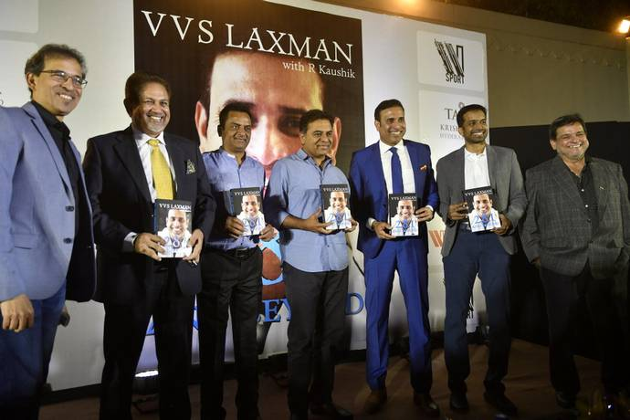 Laxman during the formal release of his autobiography '281 And Beyond' | Sportstarlive
