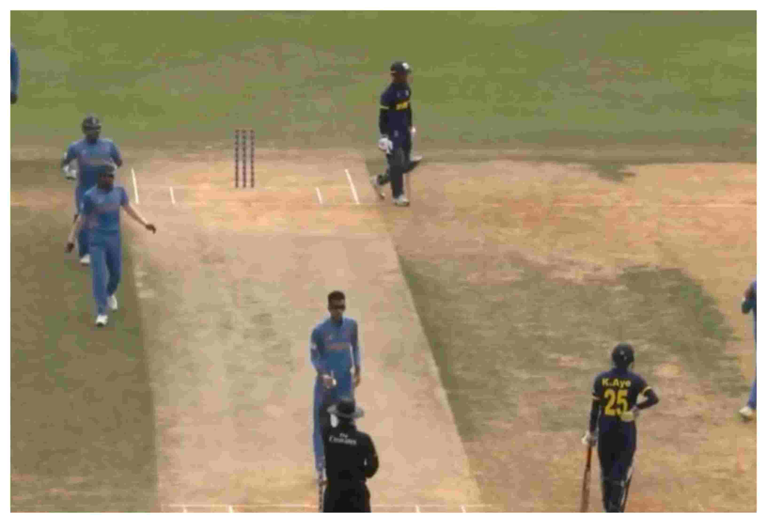 Malaysia's Pavandeep Singh picked up 5 wicket and conceded just one run | Screengrab