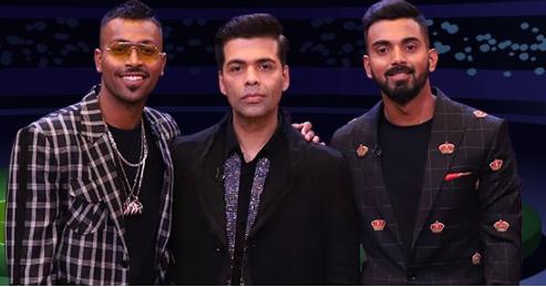 Hardik Pandya, Karan Johar and KL Rahul | Hotstar