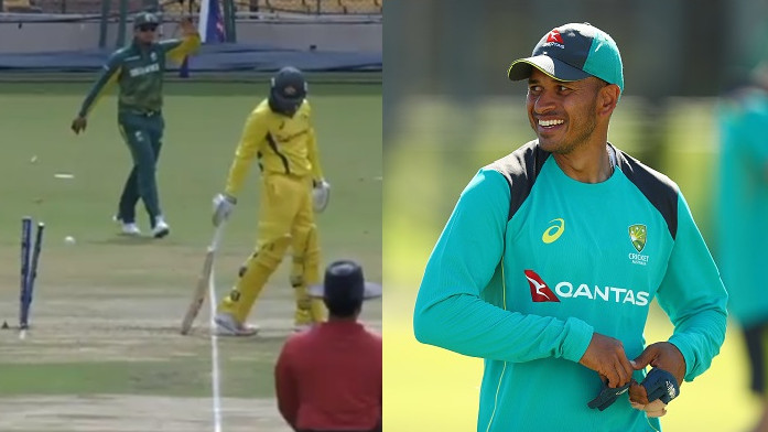 WATCH: Australia A batsman Usman Khawaja's wierd run out dismissal
