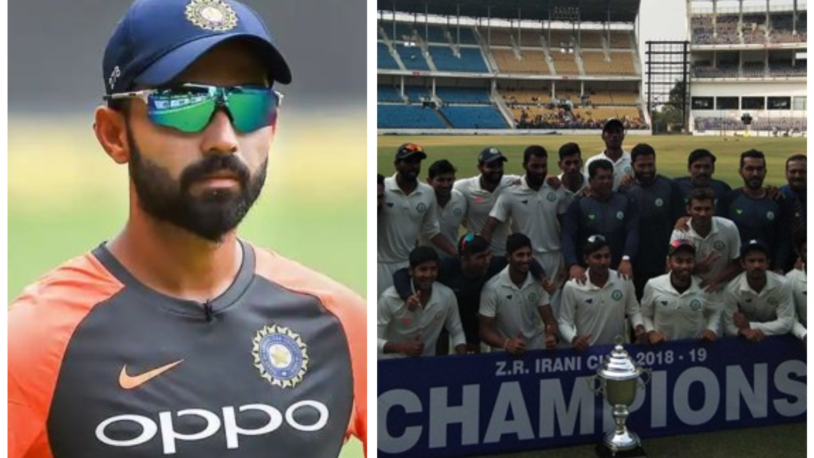 Rahane hails Vidarbha for winning the Ranji and Irani Trophy titles in consecutive years