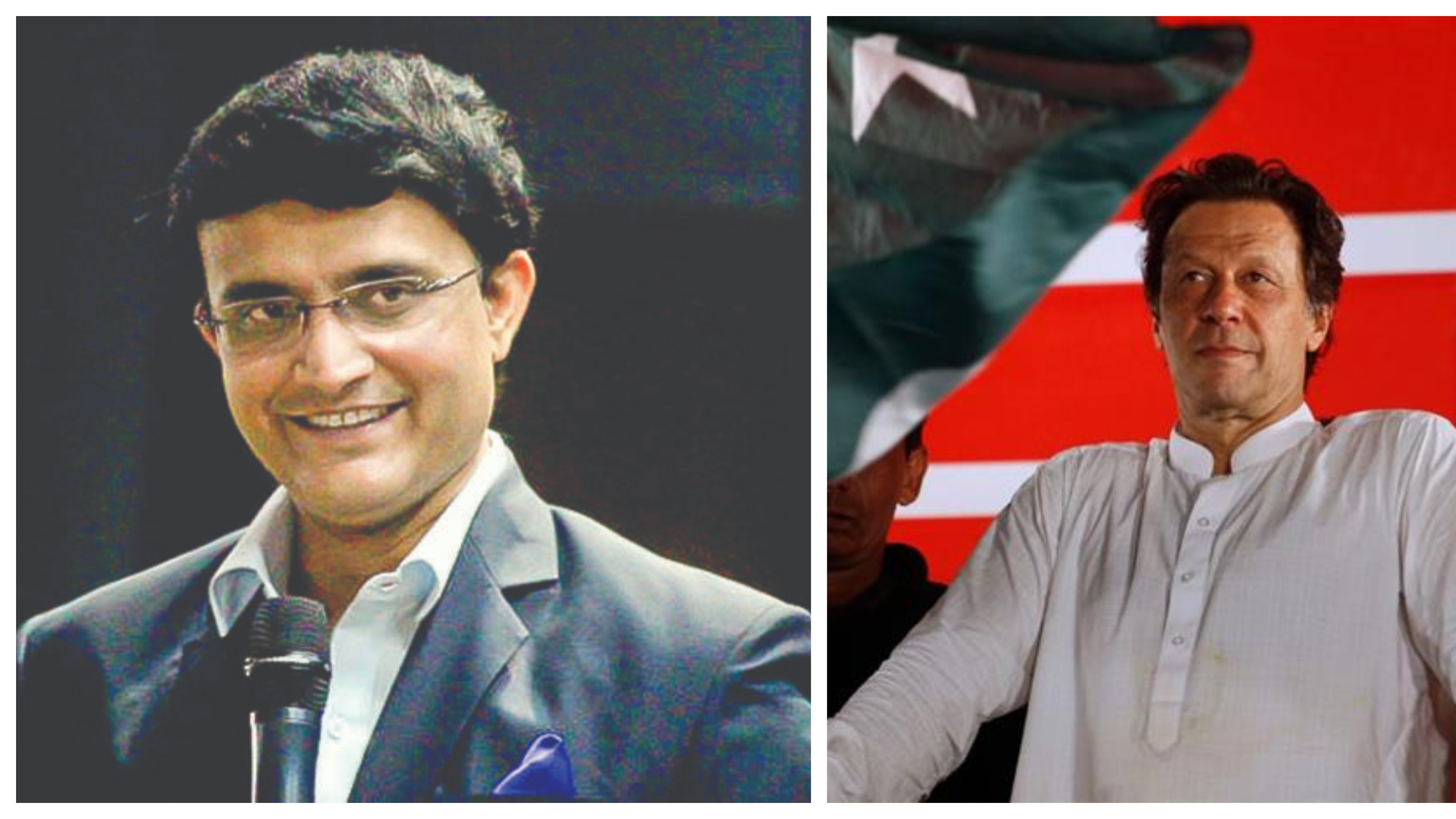 Sourav Ganguly sends his best wishes to Imran Khan after he comes to power in Pakistan
