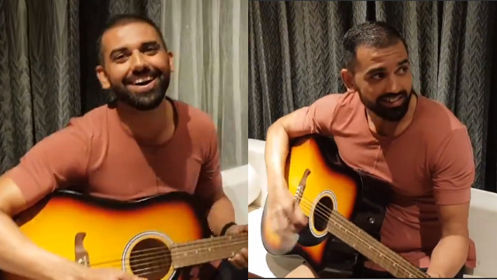 SL v IND 2021: WATCH - Deepak Chahar sings medley of Bollywood classics while playing guitar