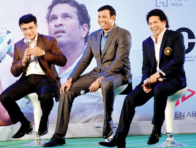 Sachin Tendulkar, Sourav Ganguly and VVS Laxman | Mid-Day