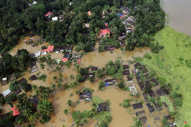 Kerala has been affected by torrential rains and flood