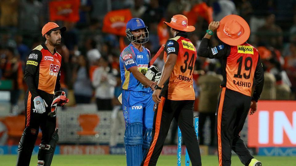 IPL 2018 : Match 28 , RR vs SRH - Statistical Highlights