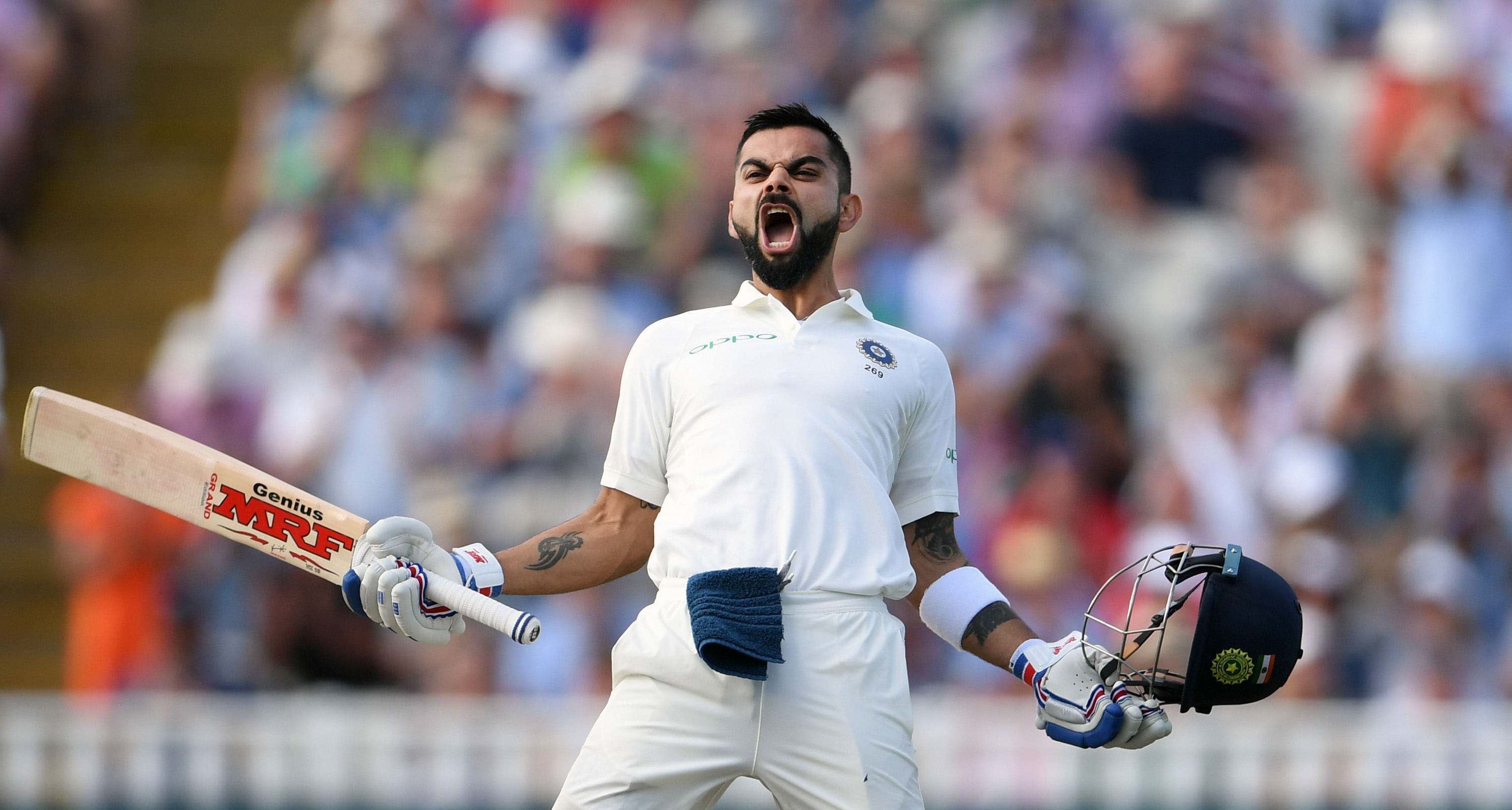 Virat singlehandedly ensured India remains in the game at the end of Day 2. (Getty)
