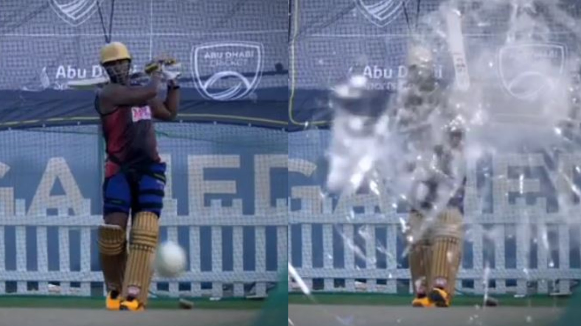 IPL 2020: WATCH- Andre Russell says 'Sorry' after breaking a camera during net session