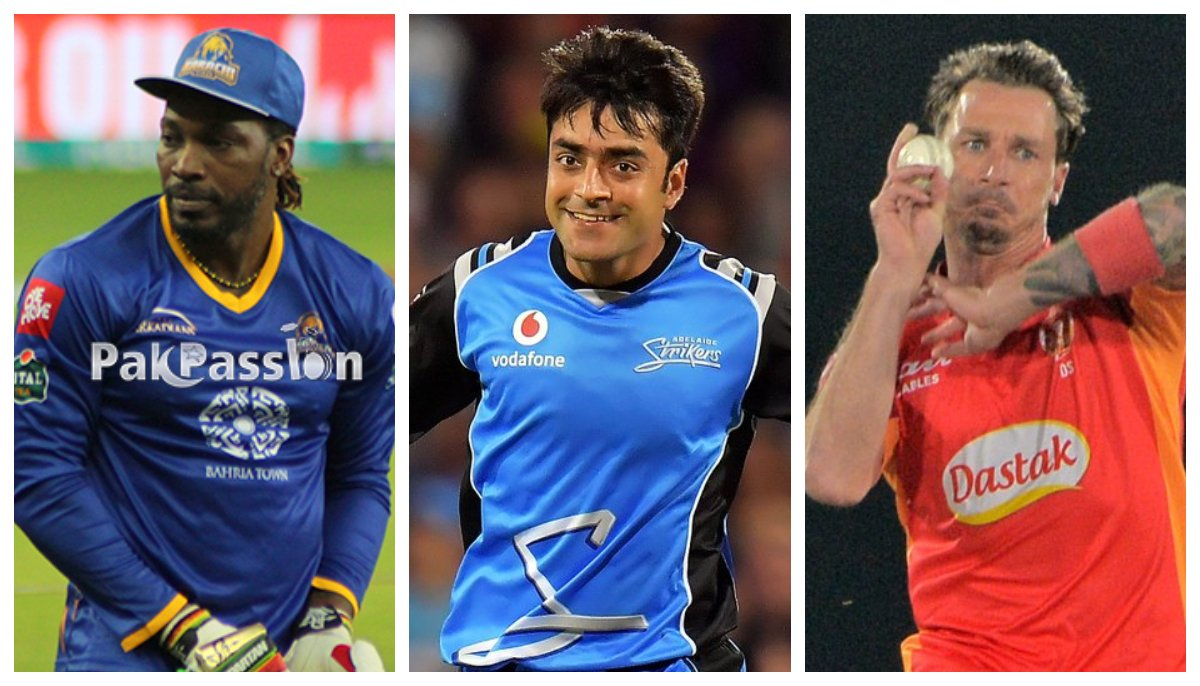 Gayle, Rashid and Steyn were among the foreign stars picked in PSL 2021 draft | Twitter