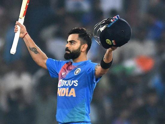 Virat Kohli struck his 23rd T20I half-century | AFP