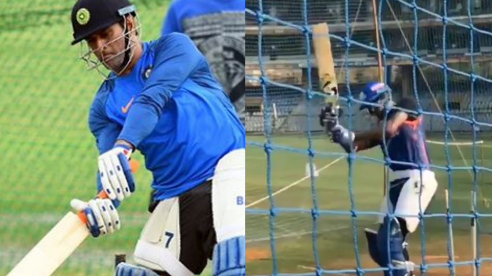 IPL 2019: WATCH- Hardik Pandya tries to copy MS Dhoni's helicopter shot during net session
