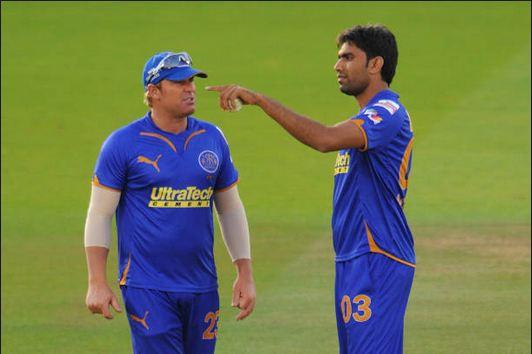 Munaf Patel with Shane Warne for Rajasthan Royals | Getty
