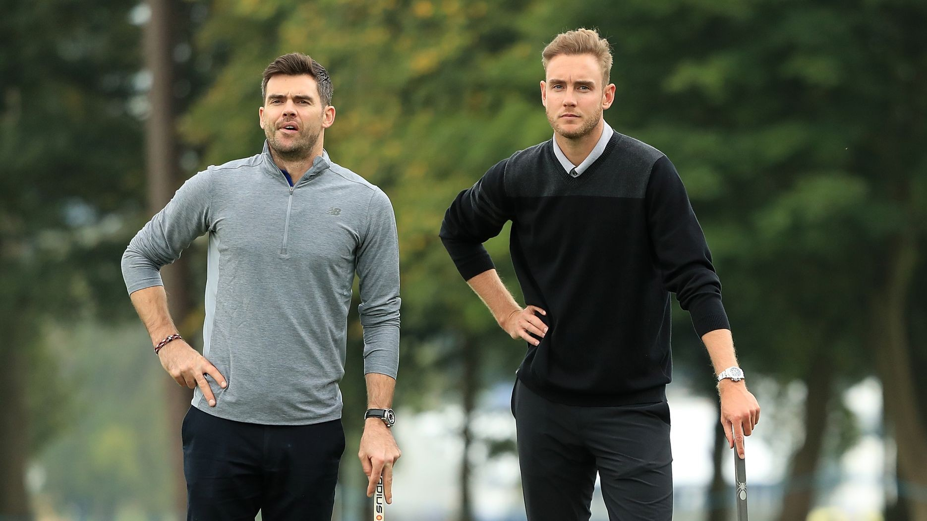 WATCH - Stuart Broad reminds James Anderson of his painful golfing accident on his 38th birthday