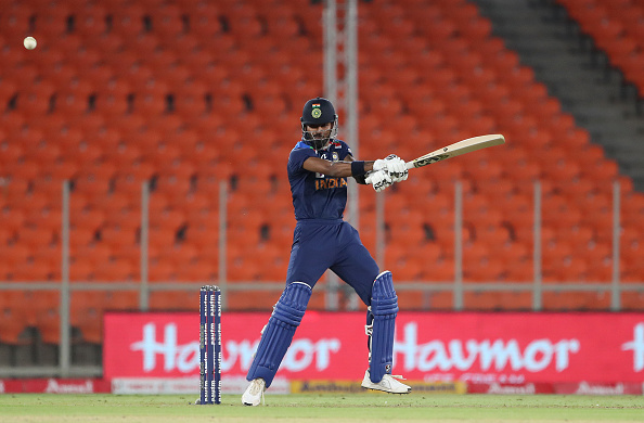 Hardik Pandya batted at No. 7 and 8 so far in the ongoing T20I series   Getty Images