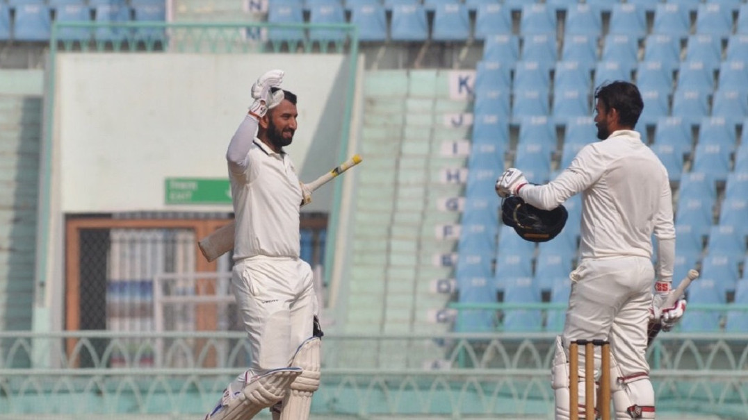 Ranji Trophy 2018-19: Saurashtra needs 55 more runs to qualify for the finals; Pujara 108* and Jackson's 90* deflates Karnataka