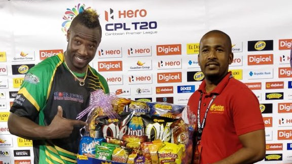 WATCH - Andre Russell does it all in one game of CPL – hundred, hat-trick and a stupendous catch