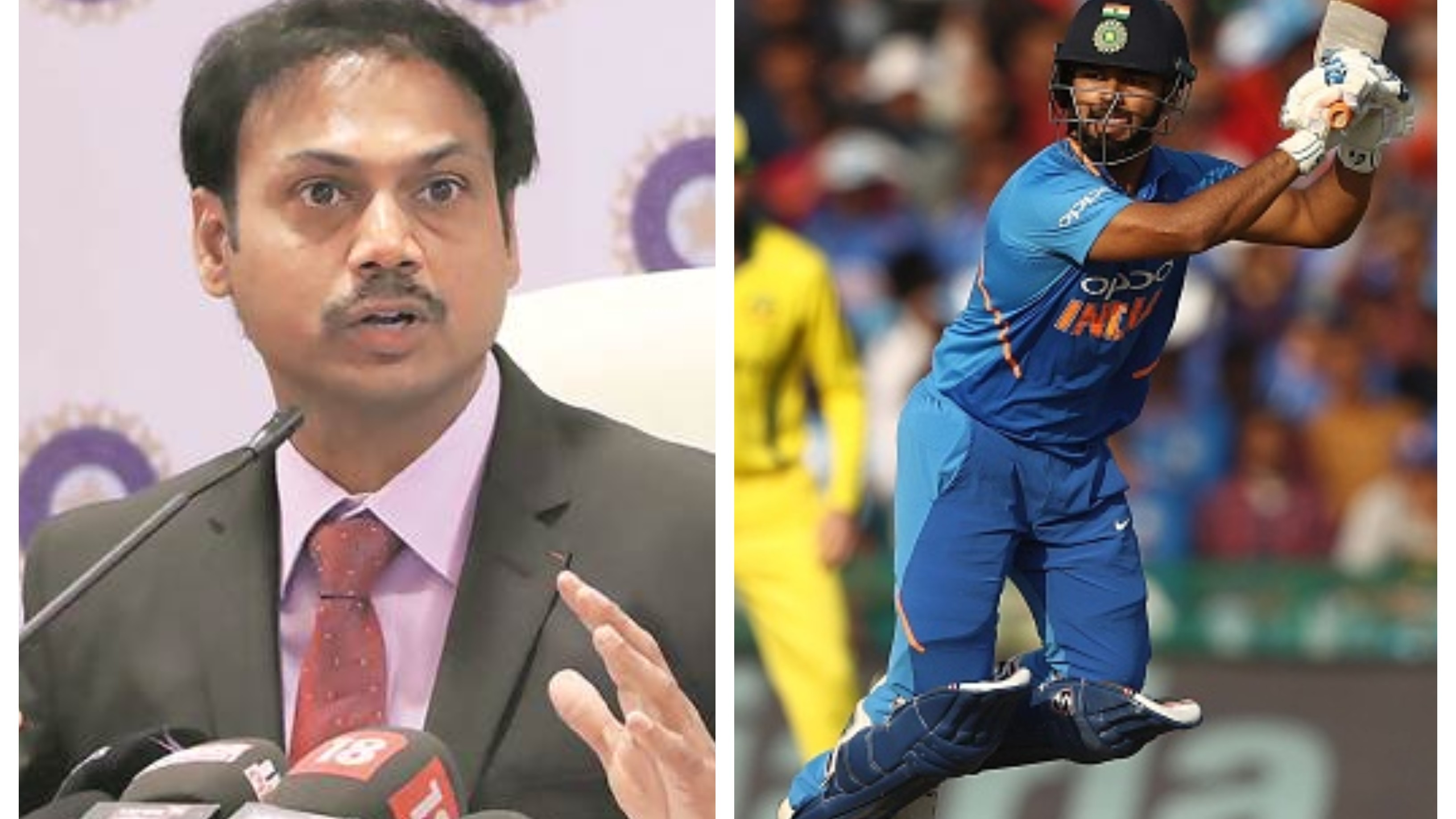CWC 2019: MSK Prasad clarifies the reason behind Rishabh Pant's omission from Team India's WC squad