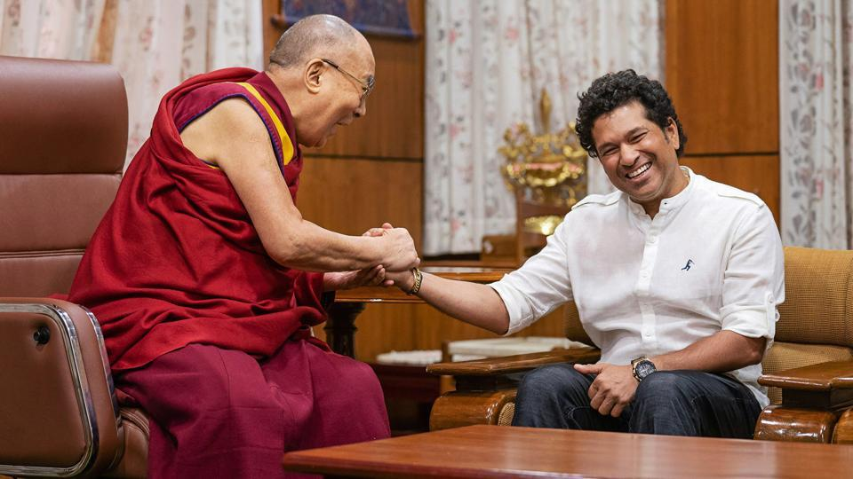 Sachin Tendulkar meets Dalai Lama on his visit to Dharamshala