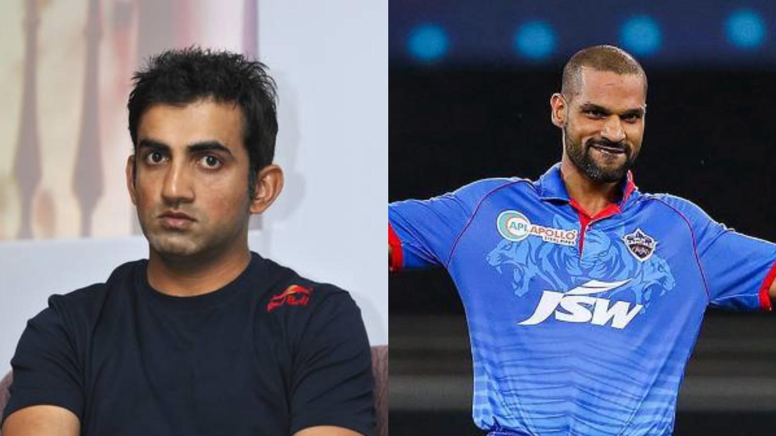 IPL 2020: Gautam Gambhir hails Shikhar Dhawan's back-to-back hundreds in IPL