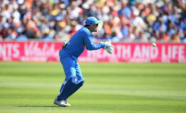 MS Dhoni took five catches and became the first wicketkeeper to do so in a T20I | Getty
