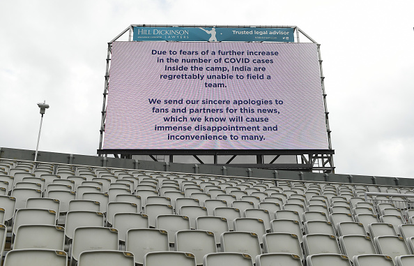 The fifth Test at Old Trafford was called off   Getty