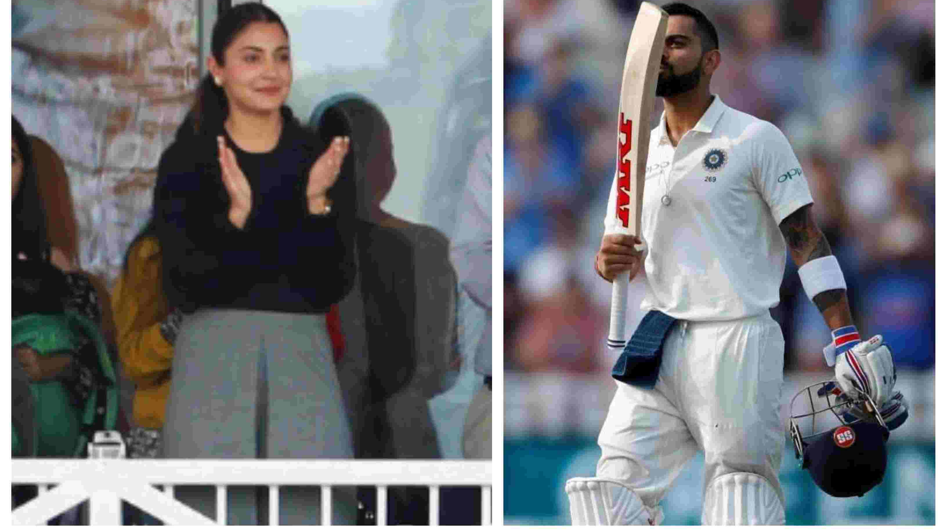 ENG v IND 2018: WATCH – Virat Kohli celebrates his 23rd Test ton by blowing a kiss towards Anushka Sharma