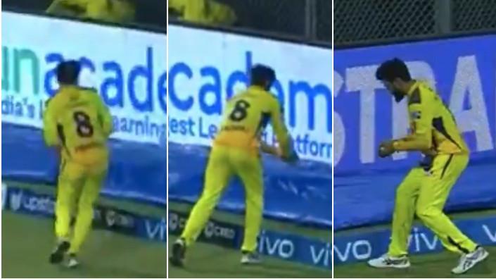 IPL 2021: WATCH - Ravindra Jadeja jokingly pretends to drop the ball outside boundary after a catch