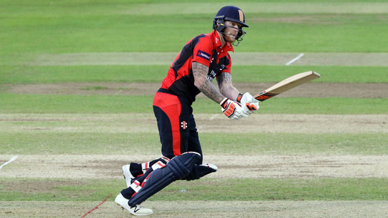 Ben Stokes smashes unbeaten 90 for Durham on injury return
