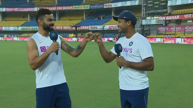 IND v BAN 2019: WATCH- Mayank Agarwal and Virat Kohli talk about key aspects of batting