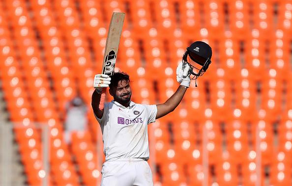 Rishabh Pant celebrates his third Test century | Getty