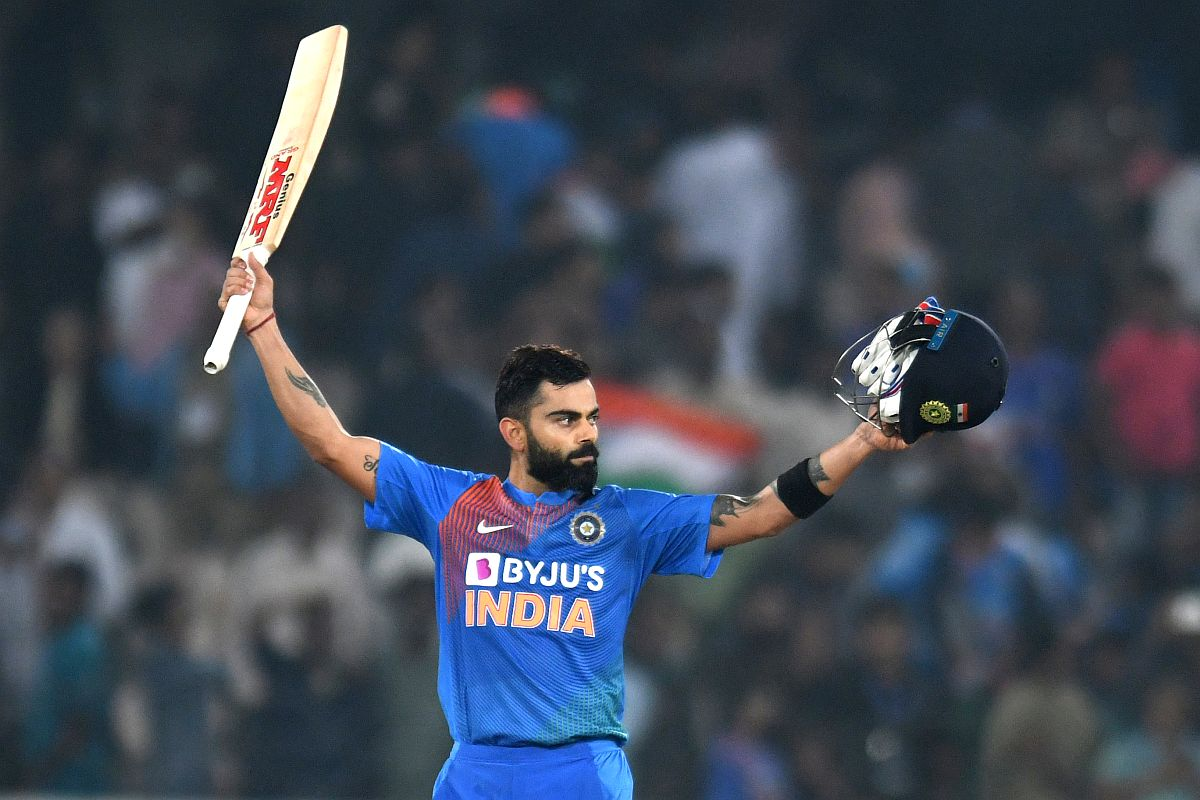 Virat Kohli hit career-best T20I score of 94* at Hyderabad   AFP